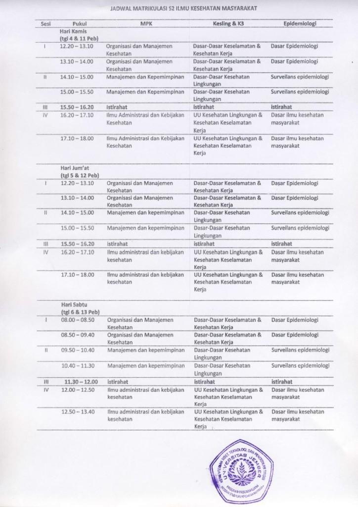 Jadwal Matrikulasi terbaru0000