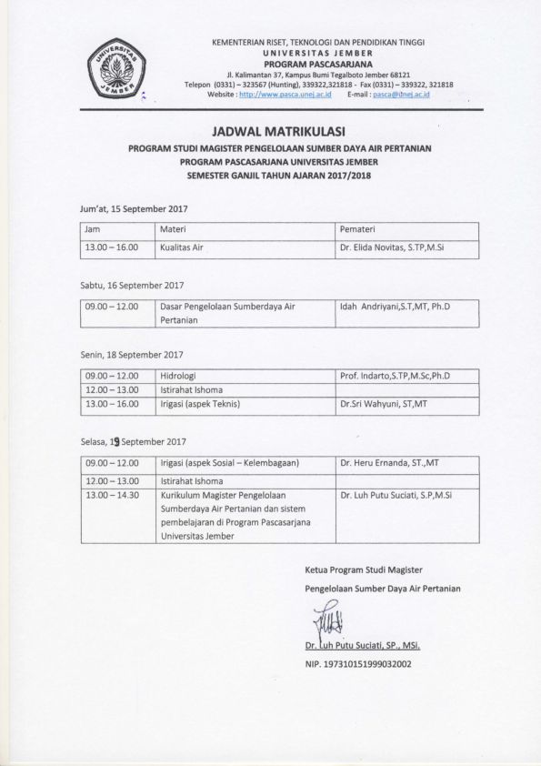 Jadwal Matrikulasi MPSDAP 1718_002